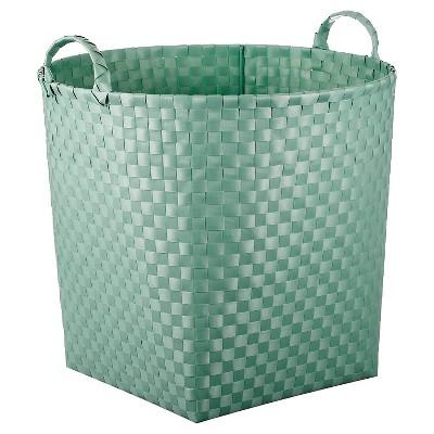 Woven Floor Bin Round Mint - Pillowfort™