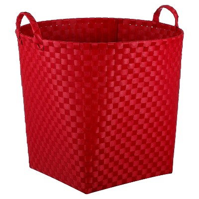 Woven Floor Bin Round Red - Pillowfort™