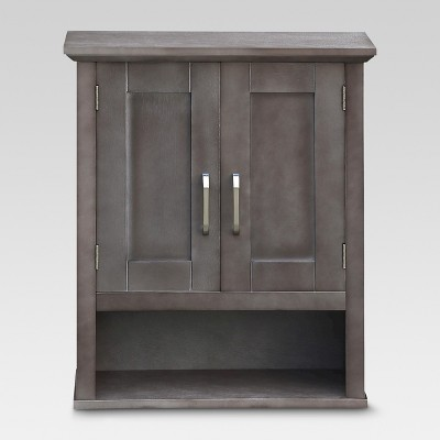 Threshold™ Wood Wall Cabinet - Grey
