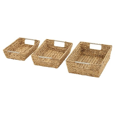 Magnificently Crafted set of 3 Sea Grass Baskets