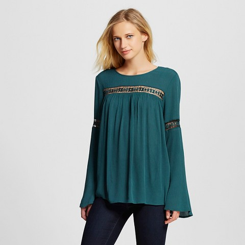 Womens Teal Blouse 108