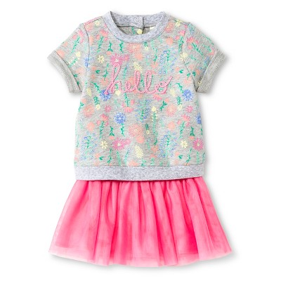 Cherokee® Baby Girls' Top & Skirt Set - Multi Floral/Pink 3-6 M