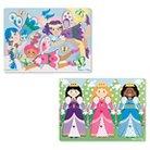 Melissa & Doug Peg Puzzle Bundle - Princesses and Fairies
