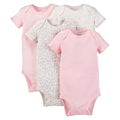 PRECIOUS FIRSTS™Made by Carter's® Baby Girls' Bodysuit 4 Pack – Pink 6M