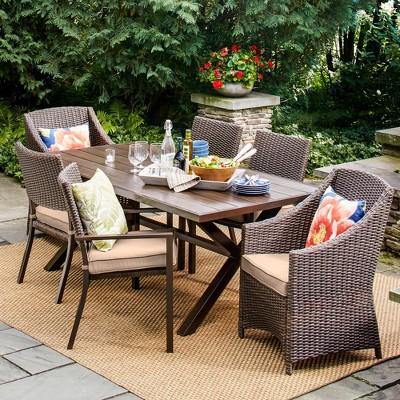 Belvedere 7pc Dining Set- Tan - Threshold™