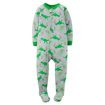 Just One You™ Made by Carter's® Baby Boys' Dinosaur Footed Pajama Gray 12M