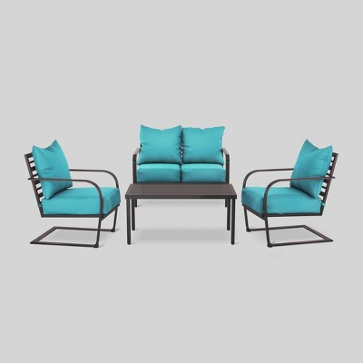Ft. Walton 4-Piece Motion Patio Seating Set - Turquoise - Threshold™