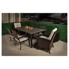 Bond Campbell 7-Piece Faux Wood Fire Patio Dining Set