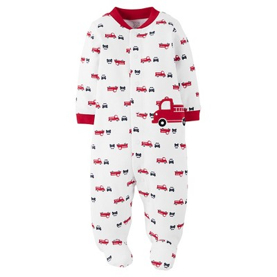 Just One You™Made by Carter's® Baby Boys' Firetruck Sleep N' Play - White/Red 3 M