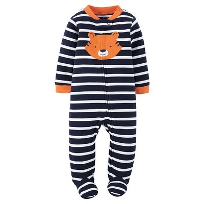 Just One You™Made by Carter's® Baby Boys' Stripe Tiger Sleep N' Play - Navy/Orange NB