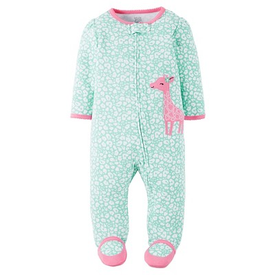 Just One You™Made by Carter's® Baby Girls' Giraffe Sleep N' Play - Mint/Pink NB