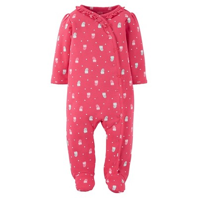 Just One You™Made by Carter's® Baby Girls' Owls Sleep N' Play - Watermelon Pink NB