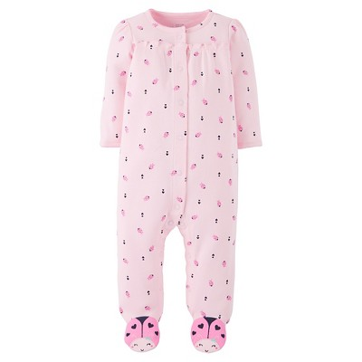 Just One You™Made by Carter's® Baby Girls' Ladybugs Sleep N' Play - Pink Blossom NB