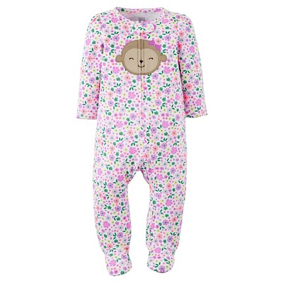 Just One You™Made by Carter's® Baby Girls' Monkey Sleep N' Play - Pink/Purple 3 M