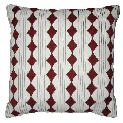 "Diamond Cord Work Pillow White 18""x18"" - Nate Berkus ™"