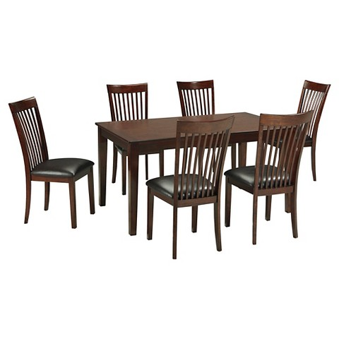 7 piece mallenton dining room table set wood med target