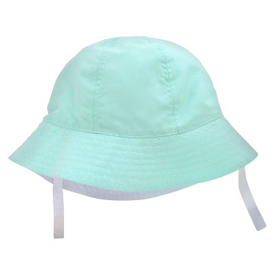 Baby Boys' Reversible Bucket Hat White/Sky Blue 6-12M - Circo™