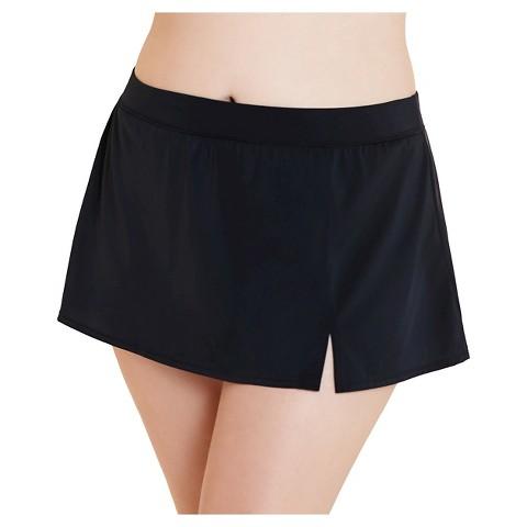 s plus size swim skirt black aqua green 174 target