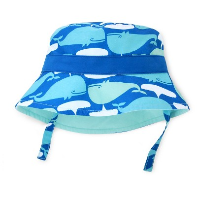 Baby Boys' Whale Print Reversible Bucket Hat Turquoise/Blue/White 6-12M - Circo™