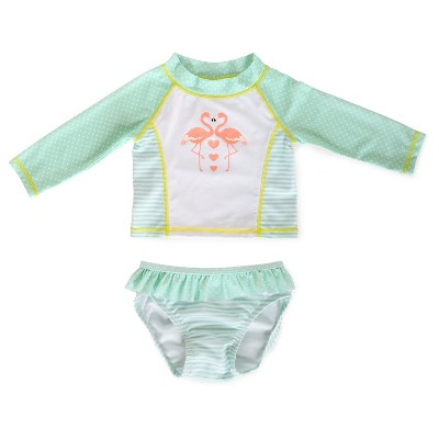Baby Girls' Flamingo Rashguard Set Multi 3-6 M- Circo™