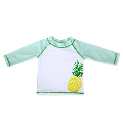 Baby Boys' Fruit Swim Rash Guard Sky Blue/White/Green/Yellow 3-6M - Circo™