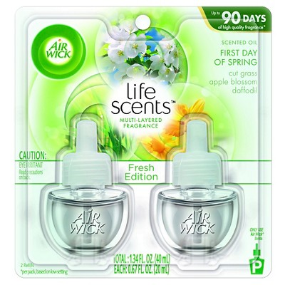 Air Wick Scented Oil - Twin Refill Life Scents First Day of Spring (2x.67)