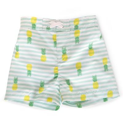 Baby Boys' Pineapple/Stripe Swim Trunk Blue/Green/Yellow/White 3-6M - Circo™