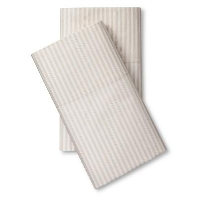 Percale Pillowcase Set Brown (Standard) - Threshold™