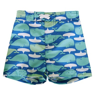 Baby Boys' Whale Swim Trunk Blue/Turquoise/White 6-9M - Circo™
