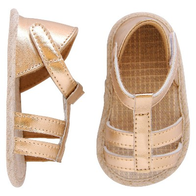 Newborn Girls' Sandals Gold 6-9 M - Cherokee®