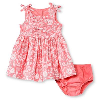 Baby Girls' Floral Sleeveless Sun Dress Pink 12M - Cherokee®