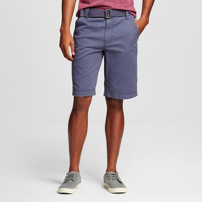 Men's Belted Flat Front Short Blue 34- Mossimo Supply Co.™