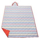 Summer Tribal Picnic Blanket  - White/Orange