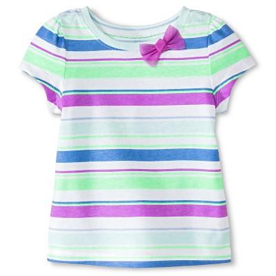 Baby Girls' Striped Short Sleeve Tee Blue 12M - Circo™