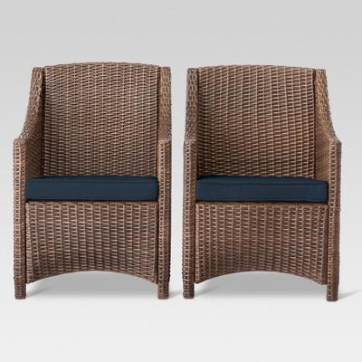 Belvedere 2pk Dining Chair Navy - Threshold™