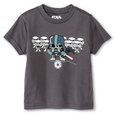 Baby Boys' Star Wars Darth Vader Activewear T-Shirt  - Charcoal Grey 12 M