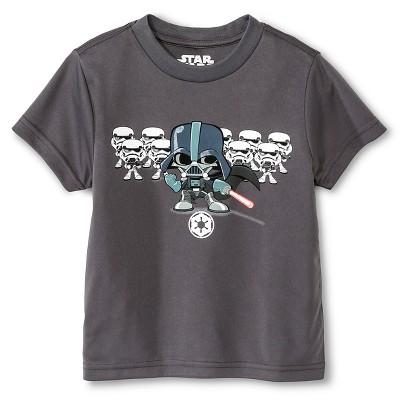 Toddler Boys' Star Wars Darth Vader Activewear T-Shirt  - Charcoal Grey 3T