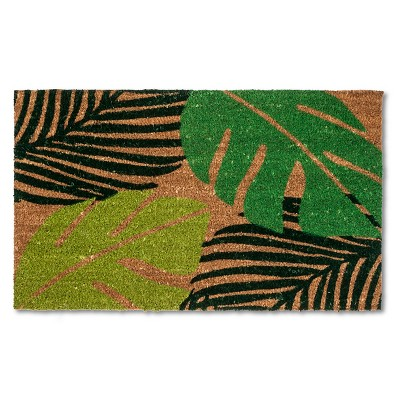 "Doormat Palm Fronds Coir Green 18""x30"" - Threshold™"