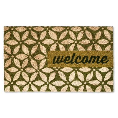 "Doormat Sand Dollar Welcome Coir Green 18""x30"" - Threshold™"