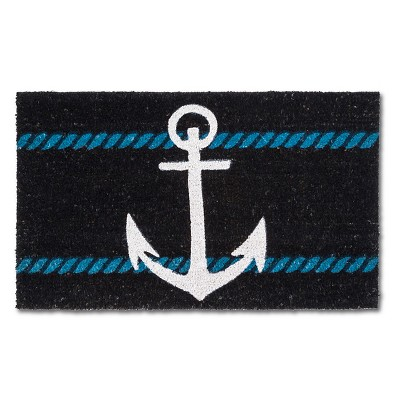 "Doormat Anchor Coir Navy 18""x30""- Threshold™"