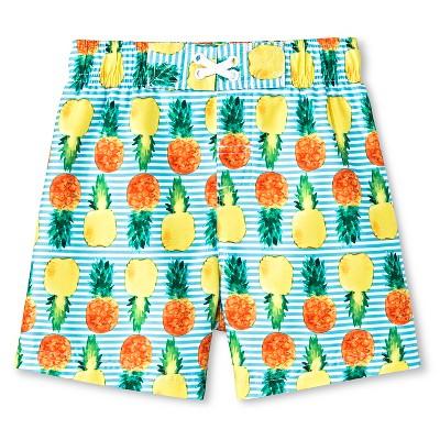 Baby Boys' Pineapple Swim Trunk Blue 18M - Circo™