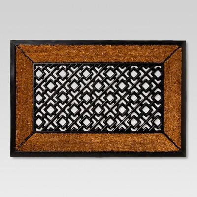 "Rubber/Coir Doormat Easton Estate 23""x35""- Threshold™"