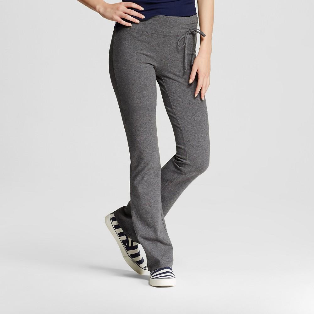 Women's Yoga Tie Waist Pant Heather Gray XL- Mossimo Supply Co. (Juniors'), Size: Xl, Heather Grey