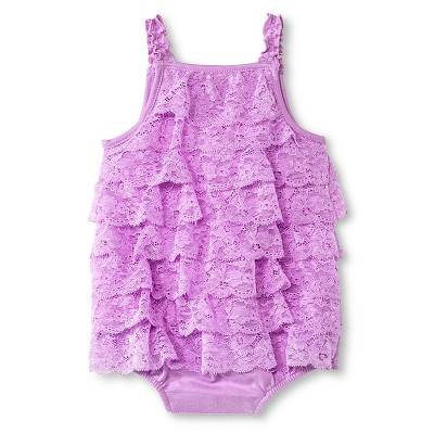 Baby Girls' Lace Romper Violet 3-6M - Cherokee®
