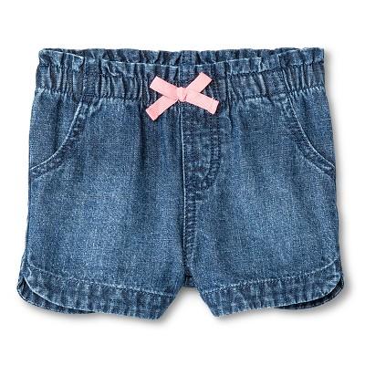 Baby Girls' Denim Jean Short Medium Wash 12M - Cherokee®