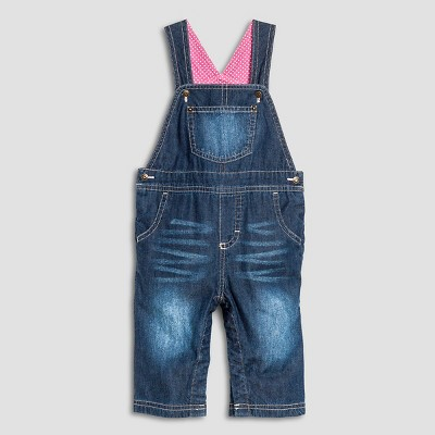 Baby Girls' Gifting Denim Overall Medium Wash 3-6 M - Cherokee®