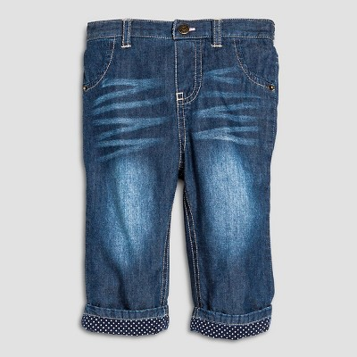 Baby Girls' Gifting Denim Pant Medium Wash 3-6M - Cherokee®