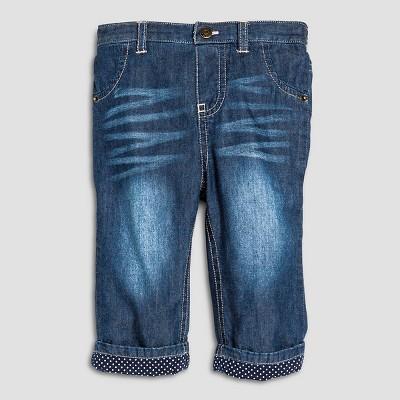 Female Jeans Cherokee Denim Blue 6-9 M
