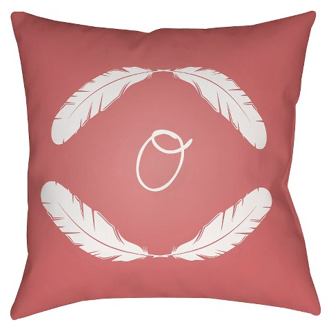 Monogram Throw Pillow Cover Target : Quill Monogram - Pink Throw Pillow - Surya : Target