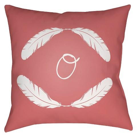 Quill Monogram - Pink Throw Pillow - Surya : Target